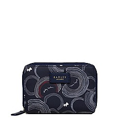 Radley - Navy printed 'Fenchurch Street' medium billfold purse