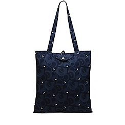 Radley - Navy printed 'Fenchurch Street' foldaway tote bag