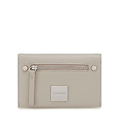 Principles - Grey zip front medium purse
