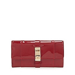 Principles - Red patent large fold over purse