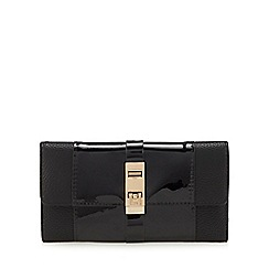 Principles - Black patent large fold over purse