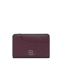 Radley - Wine red leather 'Pockets' medium purse