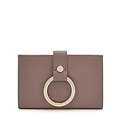 RJR.John Rocha - Brown leather ring detail medium purse