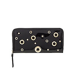 Star by Julien Macdonald - Black patent eyelet detail large purse