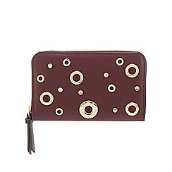 Star by Julien Macdonald - Wine red eyelet detail medium purse