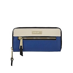 Principles - Bright blue colour block large purse