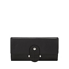 Principles - Black Leather Stud Tab Large Purse