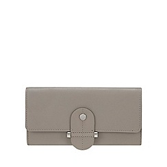 Principles - Grey Leather Stud Tab Large Purse