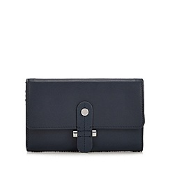 Principles - Navy Leather Stud Tab Medium Purse