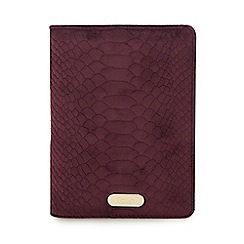 Faith - Purple snakeskin-effect A6 lined notebook