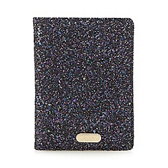 Faith - Purple glitter A6 lined notebook