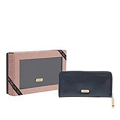 Faith - Navy glitter large purse
