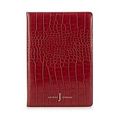 J by Jasper Conran - Red croc-effect A5 notebook