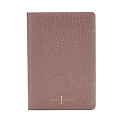 J by Jasper Conran - Pink croc-effect A5 notebook