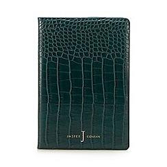 J by Jasper Conran - Green croc-effect A5 notebook
