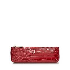 J by Jasper Conran - Red croc-effect pencil case