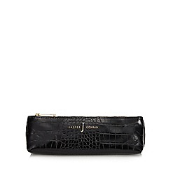 J by Jasper Conran - Black croc-effect pencil case