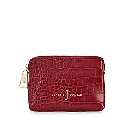 J by Jasper Conran - Red croc-effect coin purse