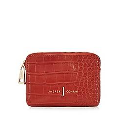 J by Jasper Conran - Orange croc-effect coin purse