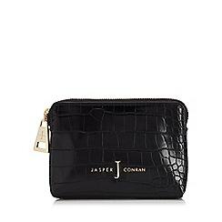 J by Jasper Conran - Black croc-effect coin purse