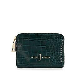 J by Jasper Conran - Bottle green croc-effect coin purse