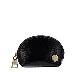 J by Jasper Conran - Black dome crinkle coin purse