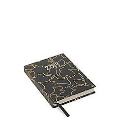 Radley - Black Linear Flower and Dog Print A6 Diary