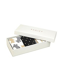 Radley - Black and White Pair of 3 Printed Socks Gift Set