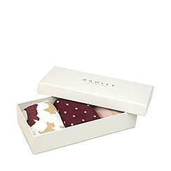 Radley - Multi-Coloured Pair of 3 Printed Socks Gift Set