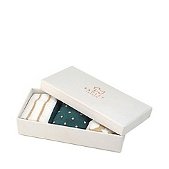 Radley - Turquoise and White Pair of 3 Printed Socks Gift Set