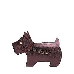 Radley - Plum Leather 'Profile Dog' Small Purse