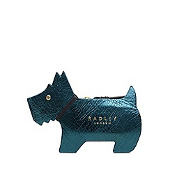 Radley - Turquoise Leather 'Profile Dog' Small Purse