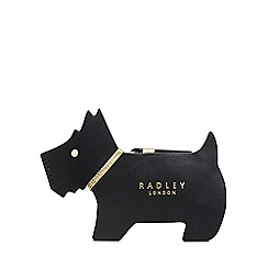 Radley - Black Leather 'Profile Dog' Small Purse