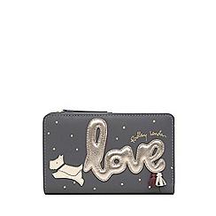 Radley - Dark Grey Leather 'Love is in the Air' Medium Zip-top Purse