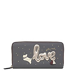Radley - Dark Grey Leather 'Love is in the Air' Large Zip Around Matinee Purse