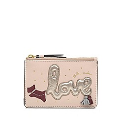 Radley - Light Pink Leather 'Love Is In The Air' Small Card Holder and Coin Purse