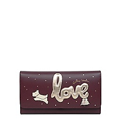 Radley - Wine Large Love is in the Air Leather Flapover Purse