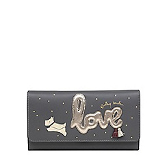 Radley - Grey Leather 'Love Is In The Air' Large Flapover Matinee Purse