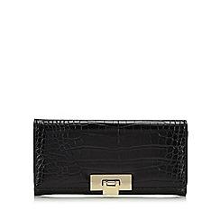J by Jasper Conran - Black croc-effect large purse