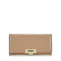 J by Jasper Conran - Camel croc-effect large purse