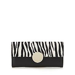 J by Jasper Conran - Black zebra print circle detail large purse