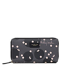 Radley - Dark Grey 'Cloud Hill' Large Matinee Zip Around Purse
