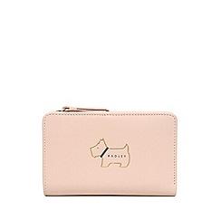 Radley - Light Pink Leather 'Heritage Dog' Medium Zip-top Purse
