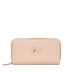 Radley - Light Pink Leather 'Heritage Dog' Zip-Top Purse