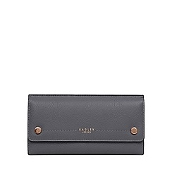 Radley - Dark Grey Leather 'Kew Palace' Large Flapover Matinee Purse