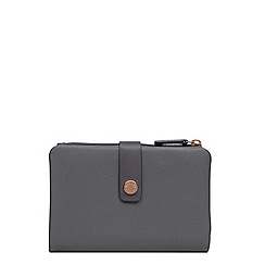 Radley - Dark grey leather 'Larks Wood' medium folded purse