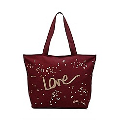 Radley - Wine 'Love' Large Zip-top Tote Bag