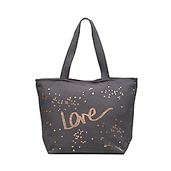 Radley - Grey 'Love' Large Zip-top Tote Bag