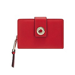 Star by Julien Macdonald - Bright Red Eyelet Tab Medium Purse