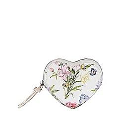 Fiorelli - Multi-Coloured Floral Print 'Libby' Heart Zip Purse